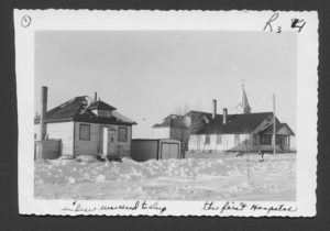 Sisters' residence and first hospital in Radville, Saskatchewan