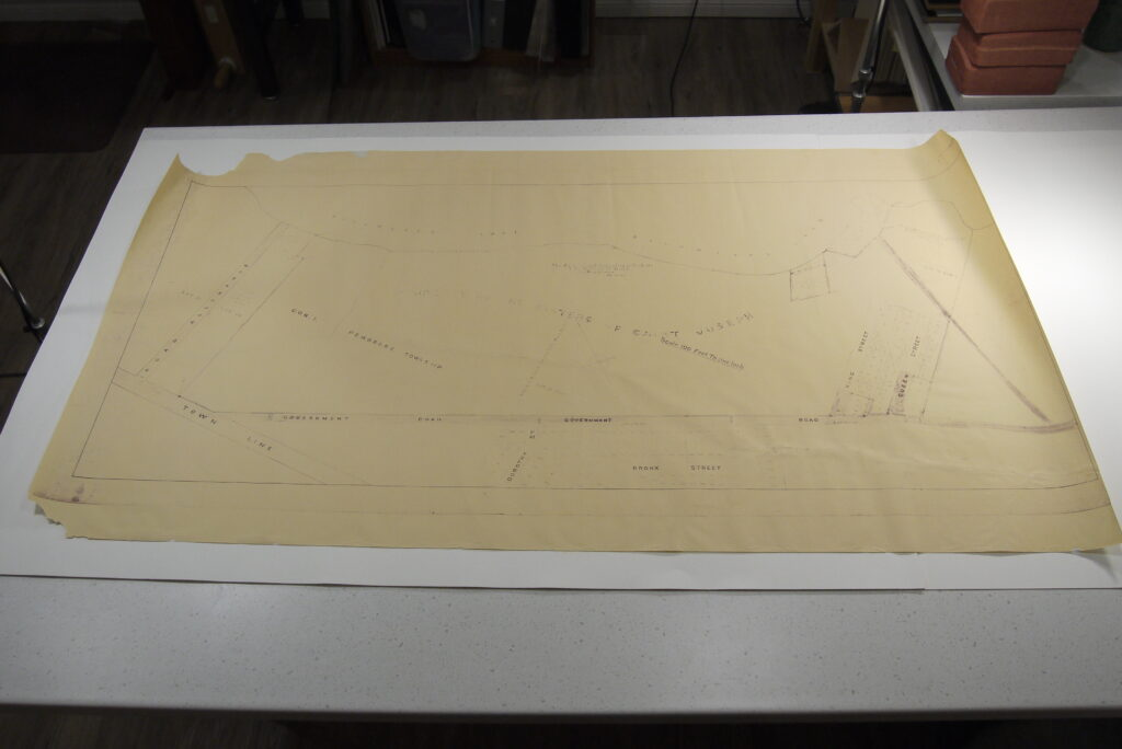 Map after conservation treatment