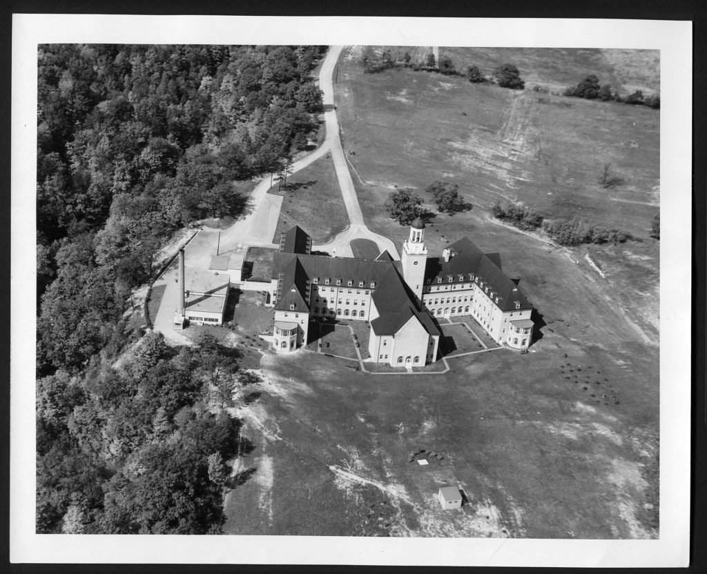 Aerial view of side of St. Joseph's convent