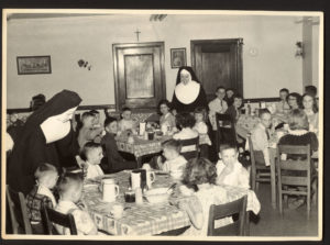 St. Mary's Orphanage dining hall