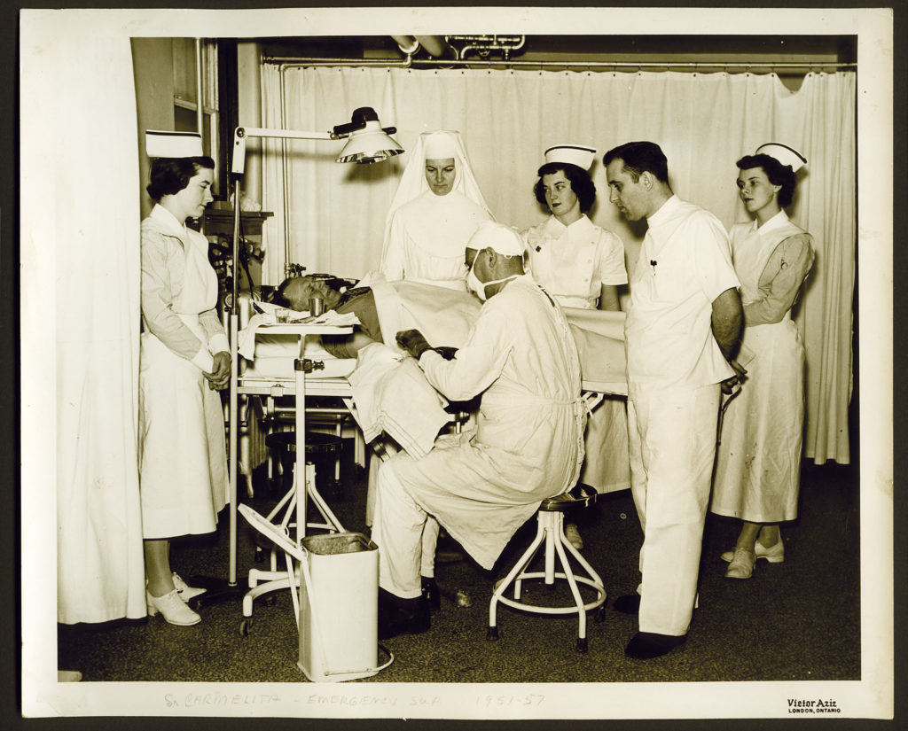 Sister in operating room