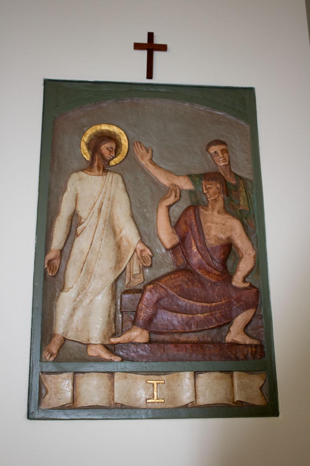 First Station of the cross by Dora de Pédery Hunt