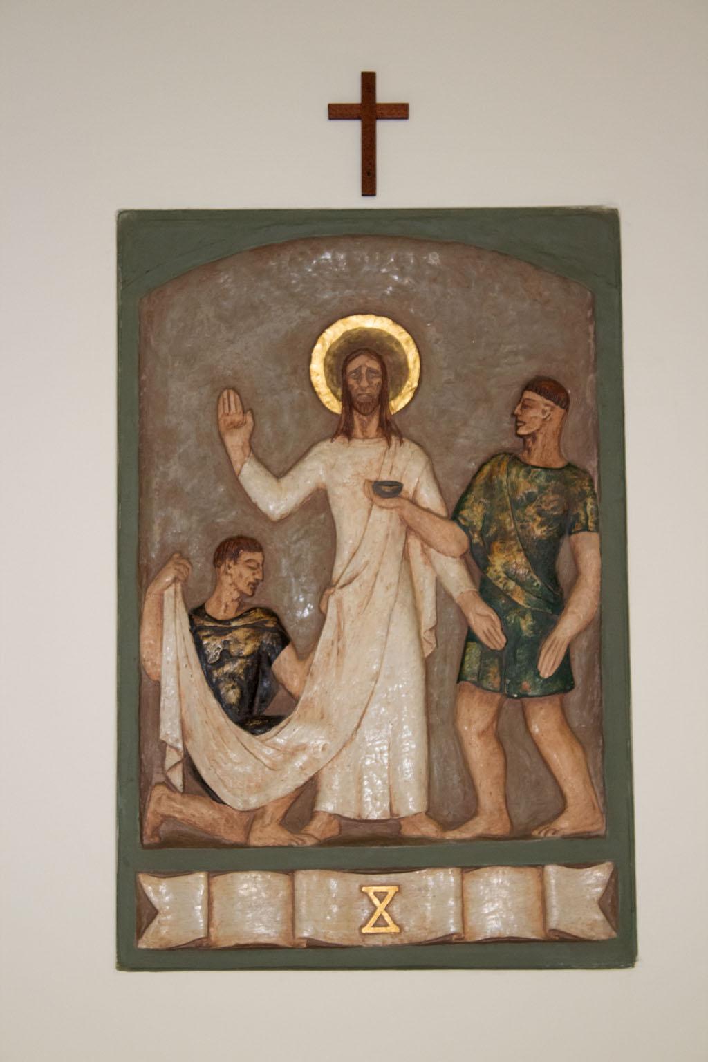 Tenth Station of the cross by Dora de Pédery Hunt