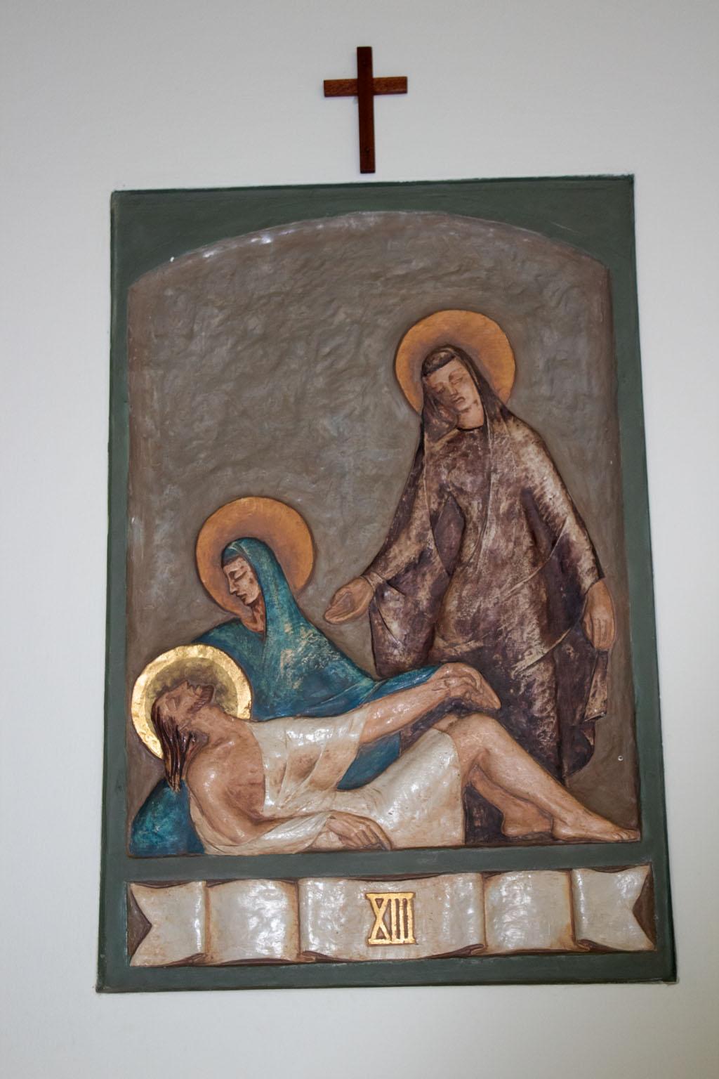 Thirteenth Station of the cross by Dora de Pédery Hunt