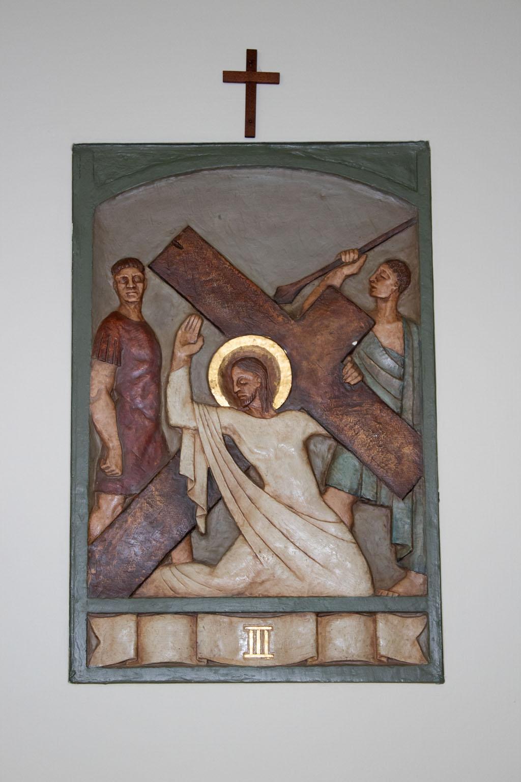 Third Station of the cross by Dora de Pédery Hunt