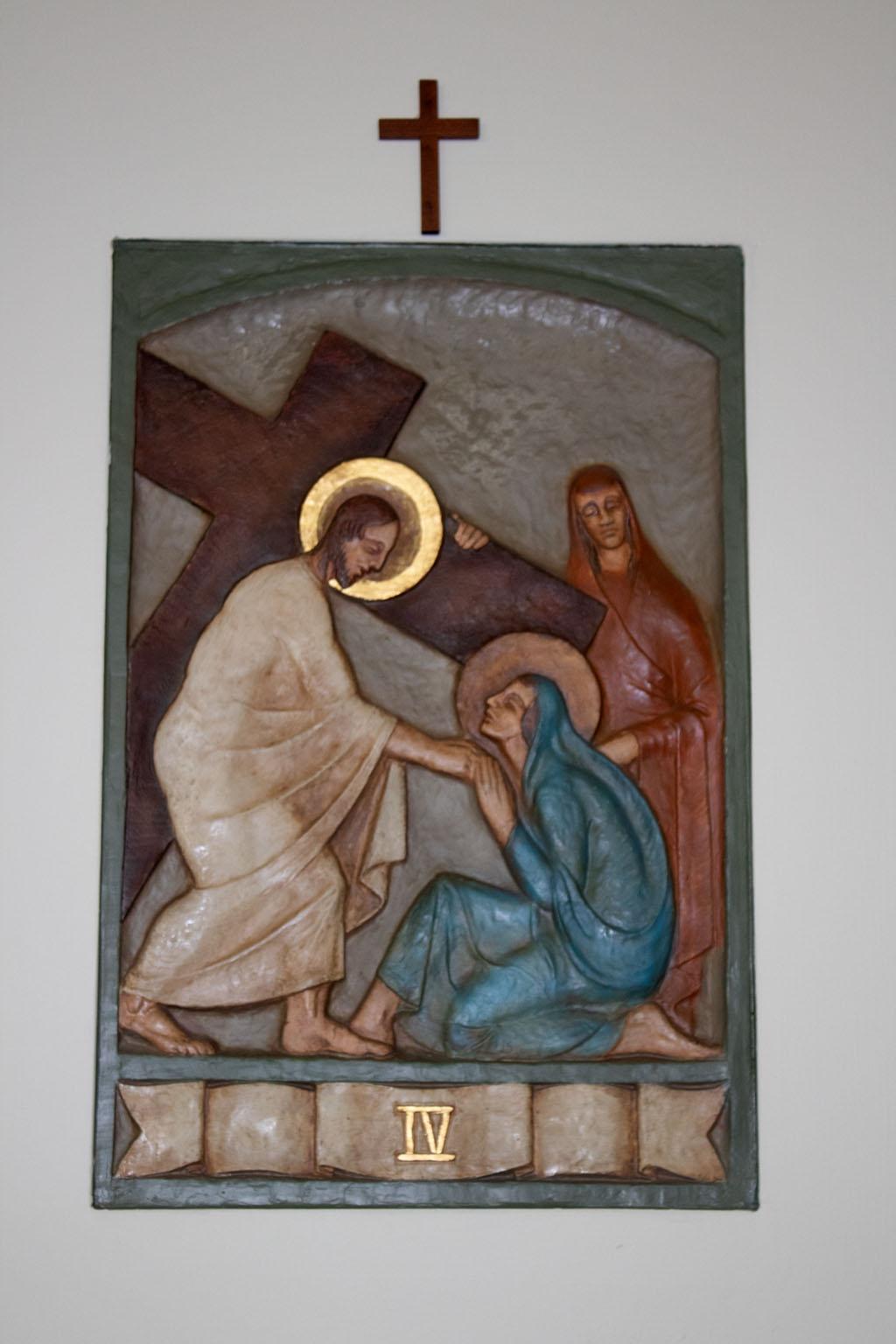 Fourth Station of the cross by Dora de Pédery Hunt
