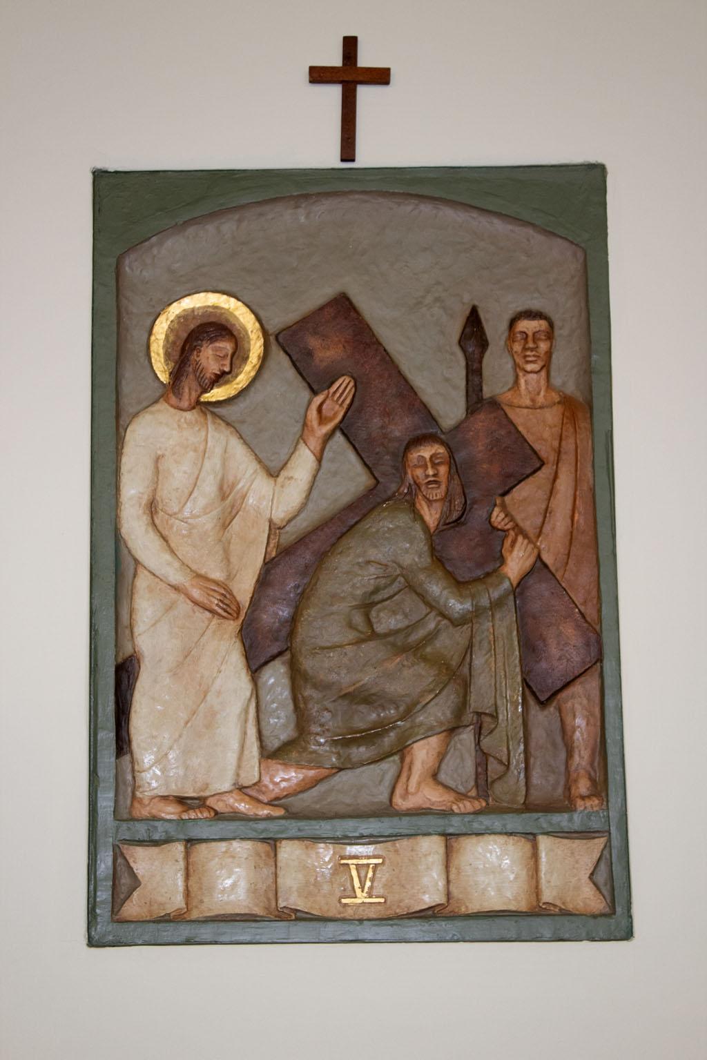 Fifth Station of the cross by Dora de Pédery Hunt