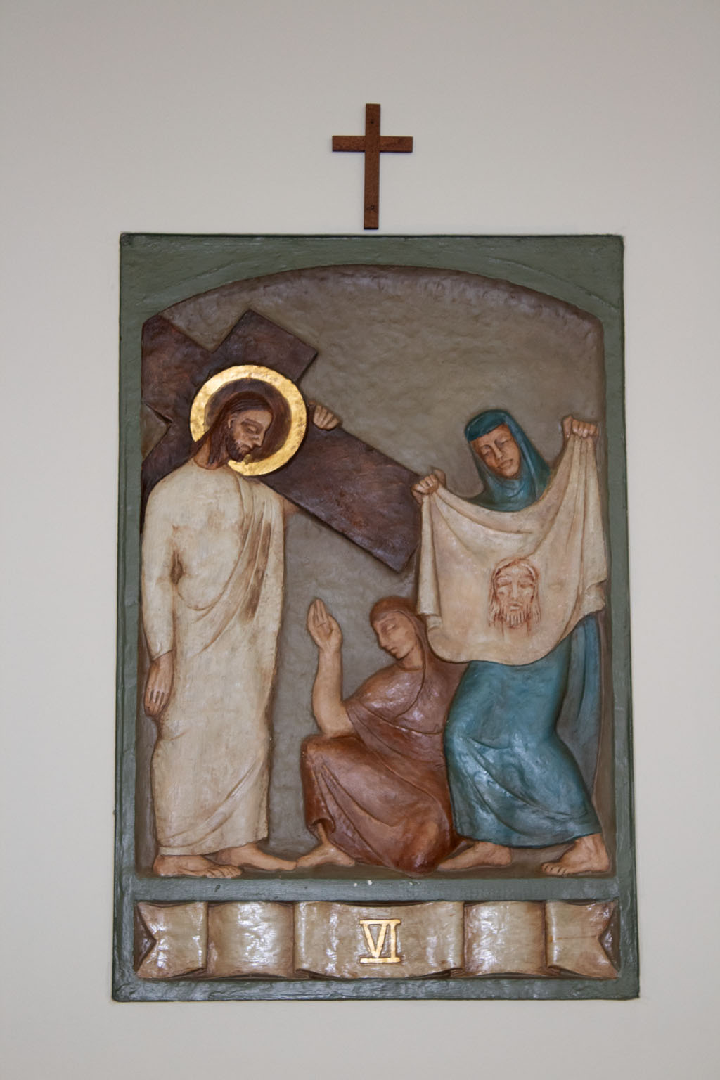 Sixth Station of the cross by Dora de Pédery Hunt