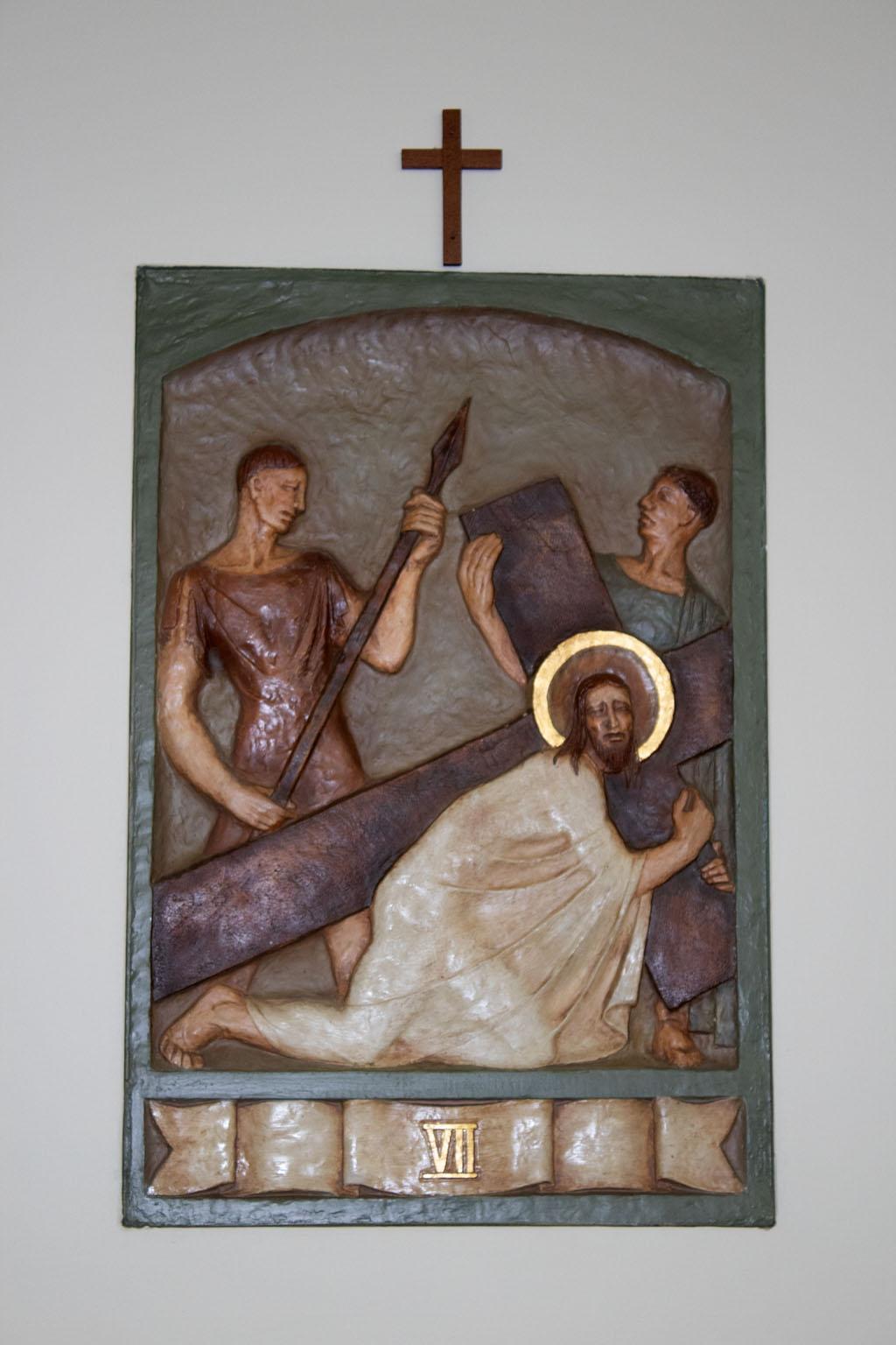 Seventh Station of the cross by Dora de Pédery Hunt