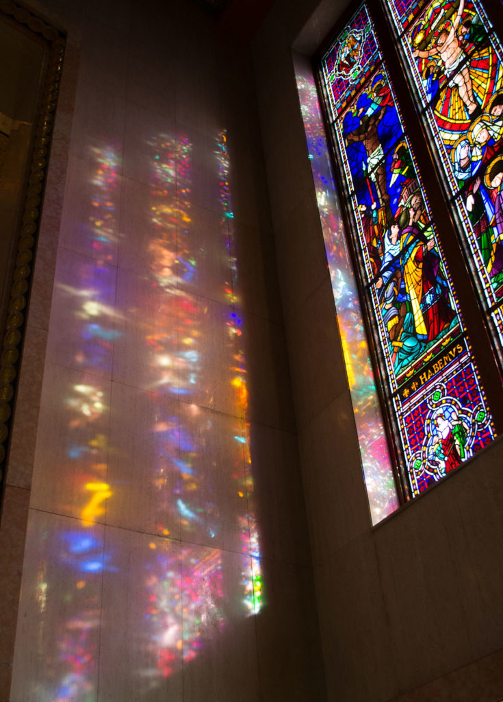 Nave windows in Immaculate Conception Chapel, Mount St. Joseph, London, Ontario - photo credit: Susan Forsythe