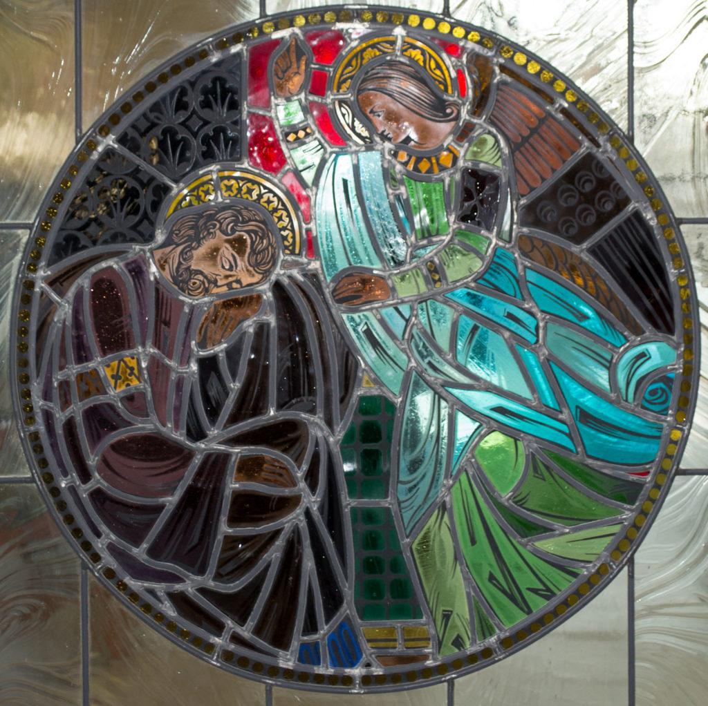 Angel visit to St. Joseph window