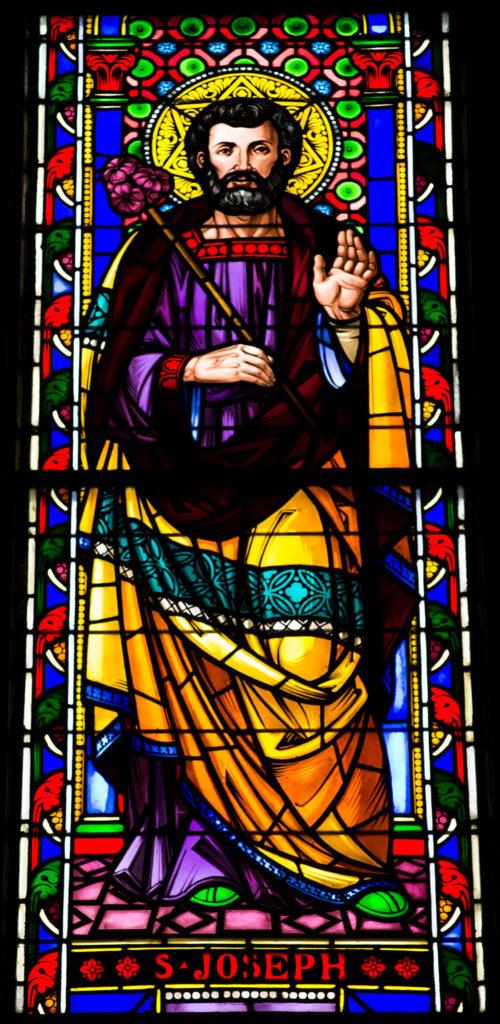 St. Joseph in center of community patrons window